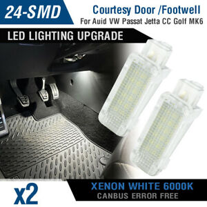 24 LED Courtesy Door Trunk Boot Footwell Luggage Light for Audi A3 A4 S4 Q5 Q7 .