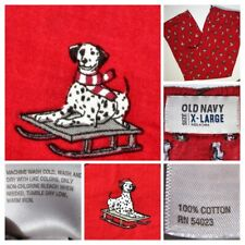 Old Navy Mens Lounge Pants Red Dalmatian DOG Print Light PJ Sleep Pajama Pant XL