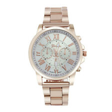 Man Woman Fashion Watch Roman Number Stainless Steel Sports Casual Wrist Watches