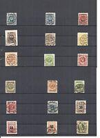 Memel, Litauen 1923, Einzelwerte aus MiNrn: 124 - 229 o, geprüft Huylmans BPP