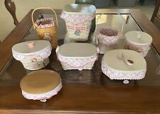 Lot of 8 Different Longaberger Horizon of Hope Baskets Lids Lots Of Extras New