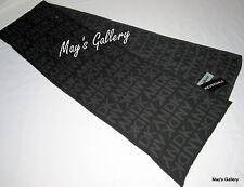 DKNY Knit Donna Karen New York wrap Scarf scarves NWT Reversible Black Grey