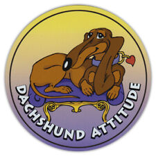 Dog Magnetic Car Decal - Made In Usa - Attitude Collection - Dachshund