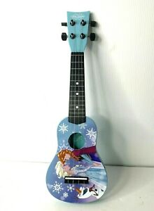 Frozen First Act Acoustic Ukukele Guitar 4 String Child Size Disney Princess