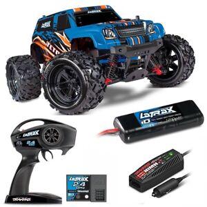 TRAXXAS LaTrax Teton 1/18 Monster Truck 4WD RTR Blue w/ 2.4GHz Radio #76054  TRA