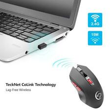 6 Buttons Adjusble 2400 DPI 2.4g Wireless Gaming Mouse Mice With USB Receiver