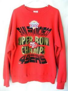 SF 49ers Sweatshirt XL Vtg 1995 Super Bowl Champs 90's NFL Dynasty Metallic Gold