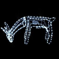 Grasendes Funkelndes LED Rentier mit 216 (36 Flash) LEDs + motorgesteuertem Kopf