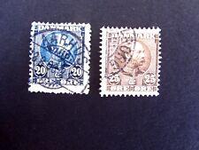 Denmark #66 & 67, King Christian IX, 1904, Used/Fine/HR