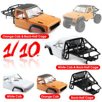 1/10 RC Cab & Back-Half Cage For TRX4 SCX10 90046 Redcat GEN 8 Scout II
