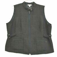 Dressbarn Women's Size 18/20 Full Zip Quilted Polyester Adjustable Waist Vest