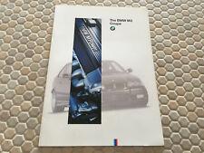 BMW E36 M3 & M3 LIGHTWEIGHT COUPE FIRST PRESTIGE SALES BROCHURE 1995 USA EDITION