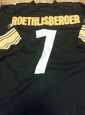 BEN ROETHLISBERGER STEELERS BLACK HOME AUTHENTIC FOOTBALL JERSEY SIZE 56 3XL