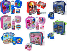 3pc Childrens Insulated Licensed Lunch Bag With Bottle & Sandwich Box School Set