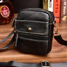 Men Small Crossbody Bag Genuine Leather Shoulder Bags Waist Pack Phone Bags