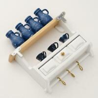 1:12 Dollhouse Zubehör Miniatur Küche Holz Wand montiert Rack Z1O0