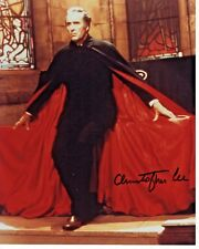 Christopher Lee Lord Of The Rings Dracula Autograph Hand Signed 8x10 Photo