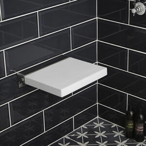 White Padded Shower Soft PU Seat | RRP £269