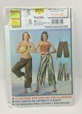 Burda Young Fashion 8315 Sewing Pattern Misses Hip Pants Size 10 22