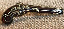 Vintage Old Fashioned Revolver Enamel  Lapel Pin