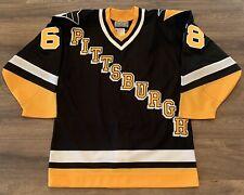 New ListingPittsburgh Penguins Jaromir Jagr Diagonal Ccm Nhl Hockey Jersey Size 44