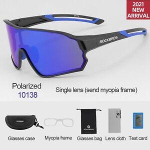 ROCKBROS Cycling Full Frame Polarized Sunglasses UV400 Outdoor Sports Goggles