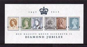 GB 2012 Commemorative Stamps~Diamond Jubilee~ M/S~Unmounted Mint Set~UK
