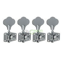 4pcs Bass Machine Heads Tuning Pegs set Club Button Guitar parts Silver