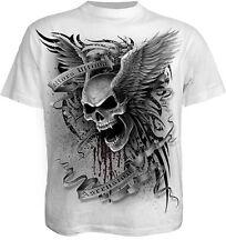 Spiral Direct Ascension Camiseta Blanca, Motero/Calavera/Tatuaje/ Alas /