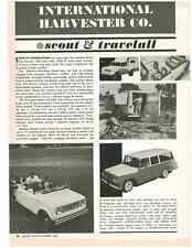 1964 SCOUT & TRAVELALL  ~  NICE ORIGINAL NEW CAR PREVIEW ARTICLE / AD