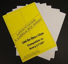10 Hojas A4 Dirección Etiquetas 4 Por Laser & Inkjet Impresoras 40 Total