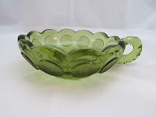 VINTAGE GREEN GLASS BOWL ( B # 20)