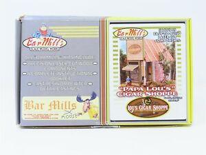 "HO 1/87 Scale Bar Mills Laser-Cut Kit #0492 ""Papa Lou's Cigar Shoppe"" Building"