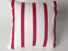 Charisma BLOOM ribbon stripe deco pillow White Magenta NWT