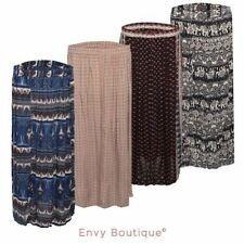 Machine Washable Geometric Maxi Skirts for Women