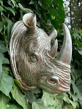 More details for wall rhinoceroses rhino head ornament hanging sculpture home décor 5 colors home