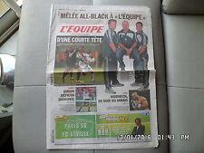 L'EQUIPE DU 02/12/2010 Rennes Marseille OM All Black Simon Mormeck   J55
