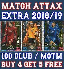 MATCH ATTAX EXTRA 2018/19 MAN OF THE MATCH LIMITED EDITION 100 CLUB CARDS 18/19