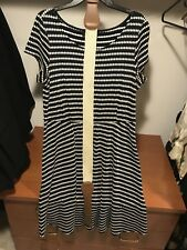 Women's 16w Cocktail navy polka dot Dress By Perceptions NY new without tags