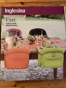 Inglesina Fast Table Chair Black - AY90F6BLKUS/D, New In Box