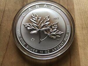 2017 10 oz. $50 Canada Maple Leaf SILVER .9999 coin ON SALE