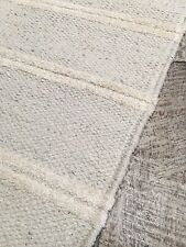 ❤️Grey & Double White Stripe Cotton & Jute Runner Rug 70cm x 200cm Flat Weave