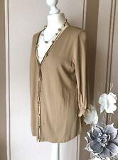 Betty Barclay Bluse Tunika Stretch Shirt Longsleeve Satin Top Cardigan Gr.40 M L