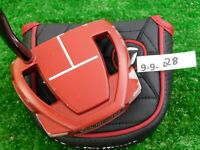 """TaylorMade Spider Mini Red 35"""" Putter with Headcover Super Stroke"""