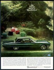 1965 Ford Thunderbird Landau green car photo vintage print ad