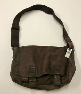 Gap Messenger Bag Brown Leather