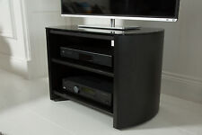 Alphason Finewoods 750 3-Shelf Black Wood Veneer and Glass TV Stand FW750-BV/B