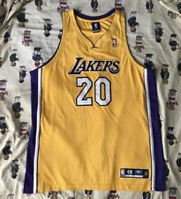 Authentic Reebok Gary Payton Los Angeles Lakers Road Jersey 48 Yellow