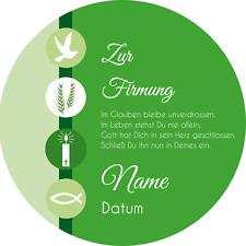 Tortenaufleger Firmung3 grün mit Wunschtext / 20 cm Ø