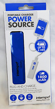 Intempo Power Bank 1800 mAh Portable USB Charger Smart Phone Tablet Universal Blue